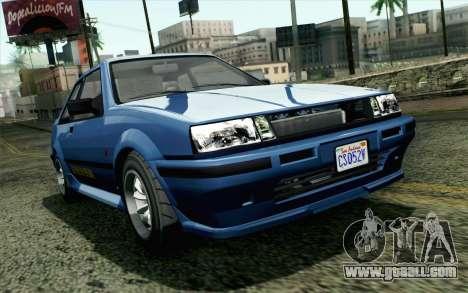 GTA 5 Karin Futo SA Mobile for GTA San Andreas
