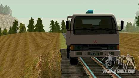 Mitsubishi Fuso Canter 1989 With Crane for GTA San Andreas inner view