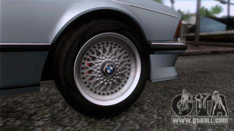 BMW M635 CSi 1984 Stock for GTA San Andreas back left view
