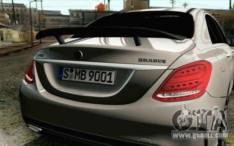 Mercedes-Benz C250 AMG Brabus Biturbo Edition EU for GTA San Andreas back view