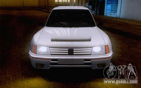 Peugeot 205 Turbo 16 1984 [IVF] for GTA San Andreas inner view