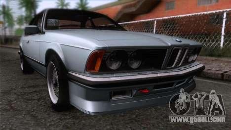 BMW M635 CSi 1984 Stock for GTA San Andreas