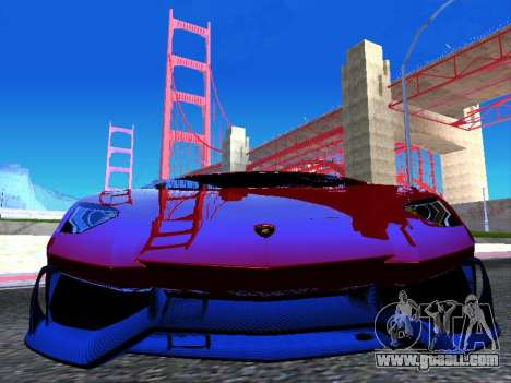 Lamborghini Aventador Novitec Torado for GTA San Andreas back view