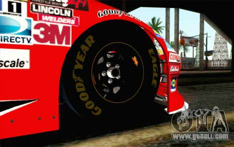 NASCAR Chevrolet Impala 2012 Short Track for GTA San Andreas back left view