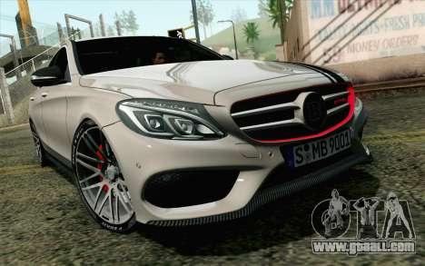 Mercedes-Benz C250 AMG Brabus Biturbo Edition EU for GTA San Andreas