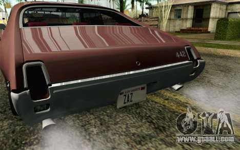 Oldsmobile 442 Holiday Coupe 1969 HQLM for GTA San Andreas back view