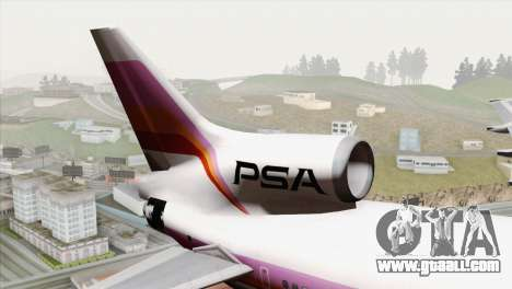 Lookheed L-1011 PSA for GTA San Andreas back left view