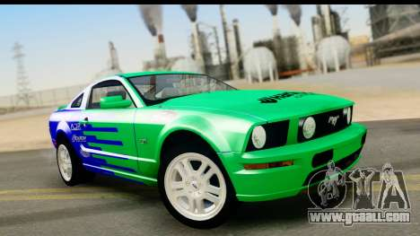 Ford Mustang GT for GTA San Andreas upper view