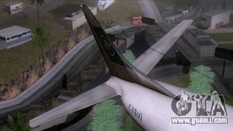 L-188 Electra Buffalo Airways for GTA San Andreas back view