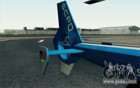 NFS HP 2010 Police Helicopter LVL 2 for GTA San Andreas right view