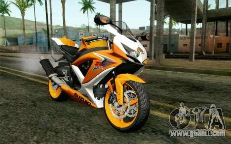 Suzuki GSX-R 600 2015 Orange for GTA San Andreas