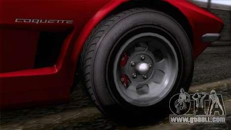 GTA 5 Invetero Coquette Classic HT for GTA San Andreas back left view