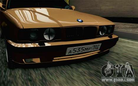 BMW M5 E34 Touring for GTA San Andreas back view