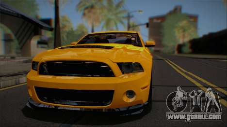 Ford Shelby GT500 2013 Vossen version for GTA San Andreas inner view