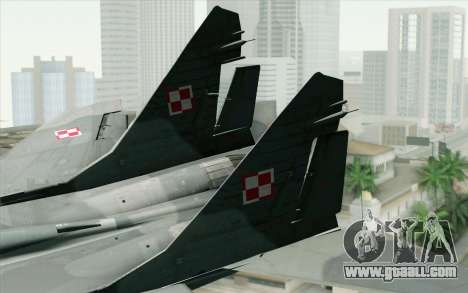 MIG-29 Polish Air Force for GTA San Andreas back left view