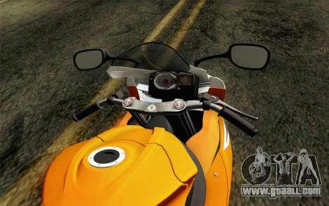 Suzuki GSX-R 600 2015 Orange for GTA San Andreas right view