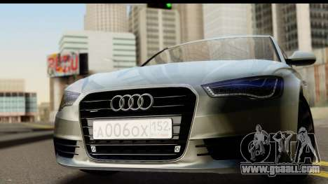 Audi A6 for GTA San Andreas back left view