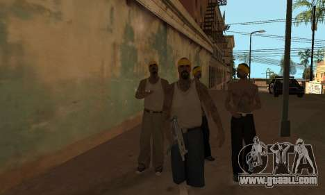 Change areas the gangs and their weapons v1.1 for GTA San Andreas second screenshot