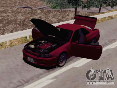 Nissan Skyline GT-R V-Spec (BNR34) for GTA San Andreas left view