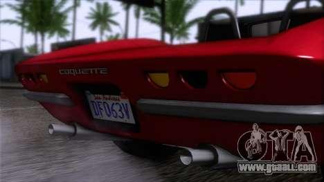 GTA 5 Invetero Coquette Classic TL IVF for GTA San Andreas right view