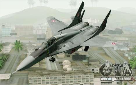 MIG-29 Polish Air Force for GTA San Andreas