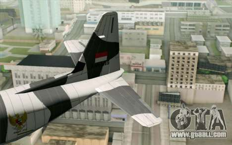 Lockheed C-130 Hercules Indonesian Air Force for GTA San Andreas back left view