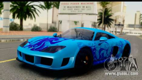 Noble M600 2010 IVF АПП for GTA San Andreas upper view