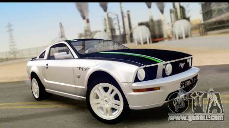 Ford Mustang GT for GTA San Andreas bottom view