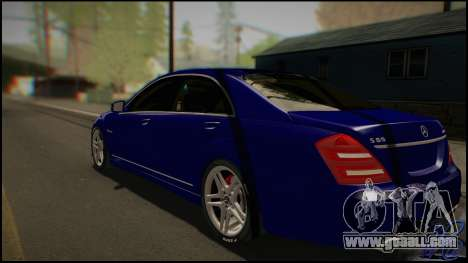 Mercedes-Benz S65 AMG 2012 Road version for GTA San Andreas back left view