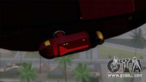 Shuttle v1 (no wheels) for GTA San Andreas back left view