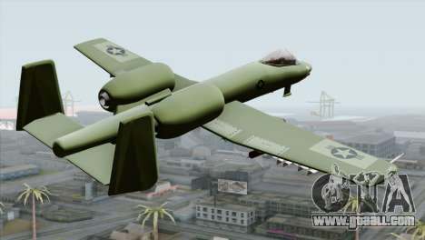 A-10 Warthog Shark Attack for GTA San Andreas left view