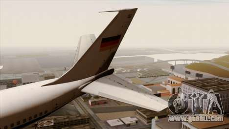 Boeing 707-300 Luftwaffe for GTA San Andreas back left view