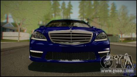 Mercedes-Benz S65 AMG 2012 Road version for GTA San Andreas back view