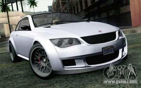 GTA 5 Ubermacht Sentinel XS for GTA San Andreas