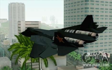 Sukhoi PAK-FA China Air Force for GTA San Andreas left view