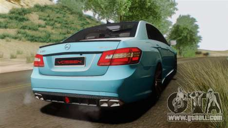 Mercedes-Benz E63 AMG 2010 Vossen wheels for GTA San Andreas right view