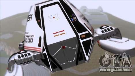 Shuttle v2 Mod 1 for GTA San Andreas back view
