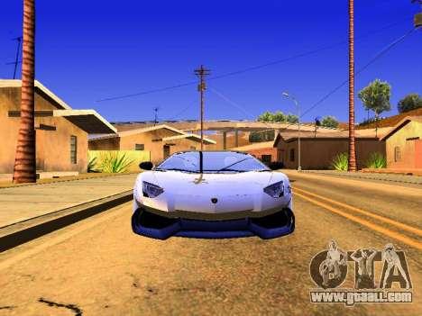 Lamborghini Aventador Novitec Torado for GTA San Andreas back left view