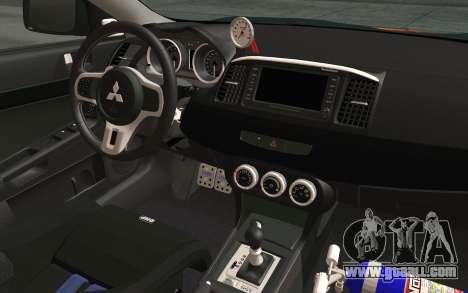 Mitsubishi Lancer Evolution X v2 for GTA San Andreas back view