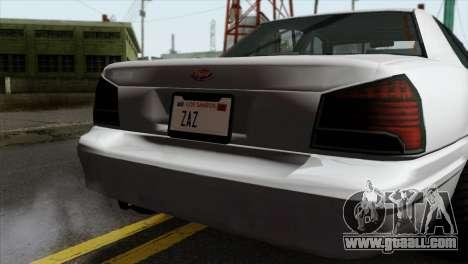 GTA 5 Vapid Stanier II SA Style for GTA San Andreas back view