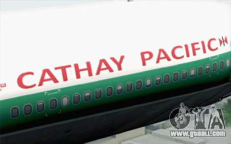Lookheed L-1011 Cathay P for GTA San Andreas back view