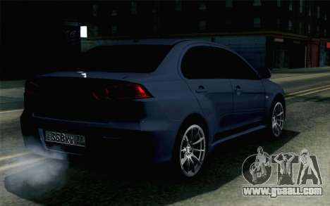 Mitsubishi Lancer X for GTA San Andreas left view