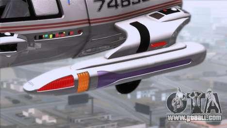Shuttle v2 Mod 1 for GTA San Andreas back left view