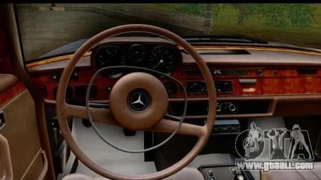 Mercedes-Benz 300 SEL 6.3 (W109) 1967 HQLM for GTA San Andreas inner view