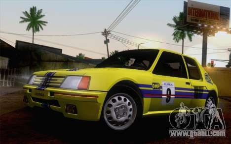 Peugeot 205 Turbo 16 1984 [IVF] for GTA San Andreas bottom view