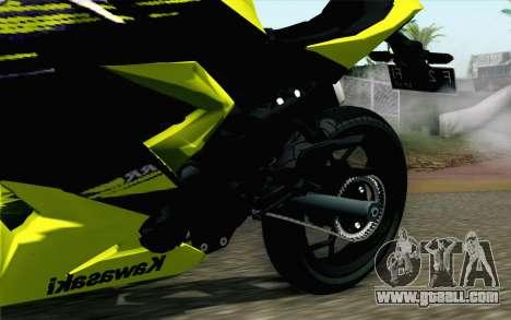 Kawasaki Ninja 250RR Mono Yellow for GTA San Andreas right view
