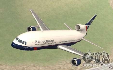 Lookheed L-1011 British Airways for GTA San Andreas