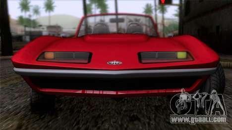 GTA 5 Invetero Coquette Classic TL IVF for GTA San Andreas back view