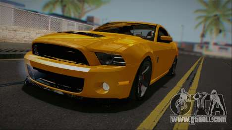 Ford Shelby GT500 2013 Vossen version for GTA San Andreas back left view