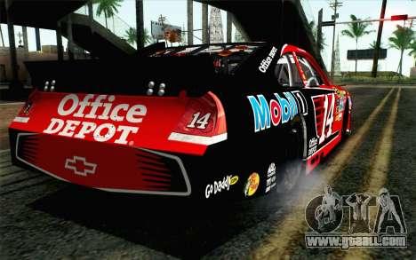NASCAR Chevrolet Impala 2012 Short Track for GTA San Andreas left view